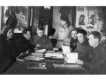 Читальный зал районной библиотеки в годы Великой Отечественной войны