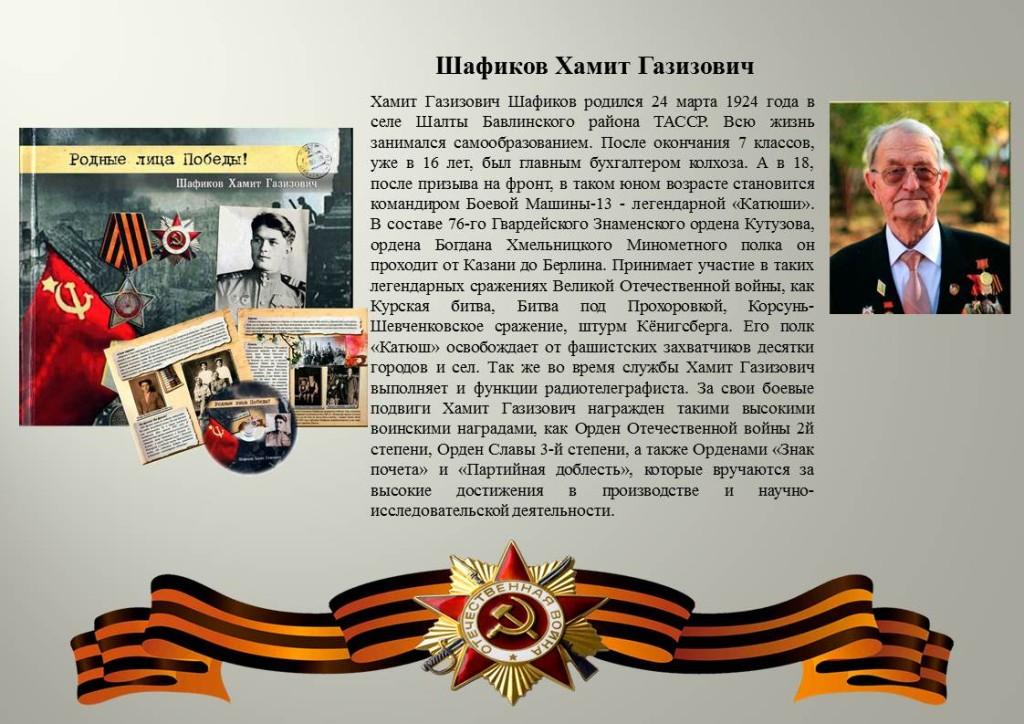 Шафиков Хамит Газизович